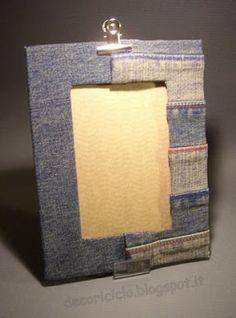 decoriciclo: Portafoto velocissimo con cartone e orlo dei pantaloni