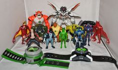 "BEN 10 Job Lot of Two x 6"" and Eleven x 4"" Action Figures and 2 Ben 10 Watches"