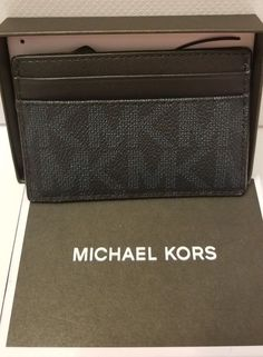 63568bec034e Wallets · Michael Kors Men s Jet Set Card Case with Money Clip Baltic Blue  New Tags in