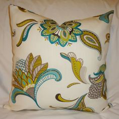 One Savannah Turquoise & Lime Green Paisley Large by HomeLiving, $15.00