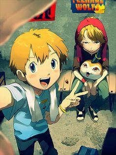 Tags: Anime, Digimon, Takaishi Takeru, Digimon Adventures, Ishida Yamato, Tunomon, TKG