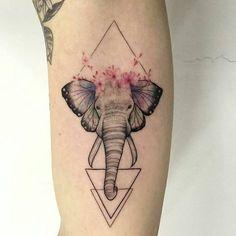 Maar dan alleen de olifant met bloemen