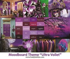 """Check out my Moodboard based on """"the Pantone colour of the year"""" theme. This is my interpretation of how I would like to use""""Ultra Violet"""" in my design collections. #ultraviolet #Pantone2018 #coloroftheyear #moodboard #fashiondesigner"""