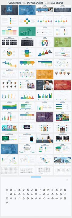 Fine general work summary report PowerPoint template Powerpoint - Summary Report Template
