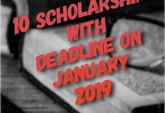 Scholarships Deadline on January 2019