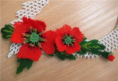 Beaded flower  PATTERN Poppy