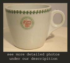 VINTAGE RESTAURANTWARE COFFEE CUP ATLANTIC COAST LINE RR RAILROAD BUFFALO CHINA