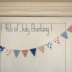 Printable 4th of July Bunting