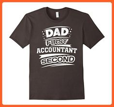 Mens Father's Day Gift for Accountants Dads T-Shirt 2XL Asphalt - Holiday and seasonal shirts (*Partner-Link)