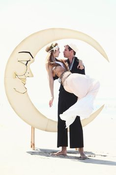 Glitter Jazz Age Paper Moon and Bench Photo Booth