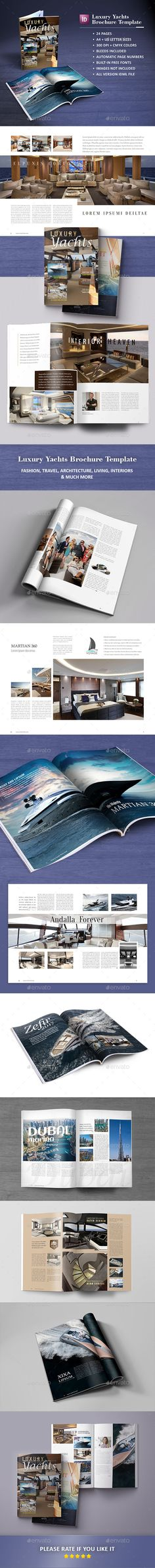 Luxury Yachts Brochure Template