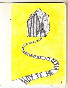 El último vecino - Tu casa nueva  #handlettering #lettering #yellow #handmade #lyrics