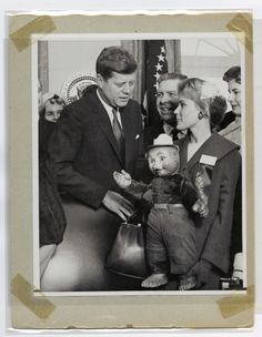 "Photograph No. 95-GP-4854-1; ""President John F. Kennedy and Smokey Bear""; Records of the Forest Service, Record Group 95; National Archives at College Park, MD."
