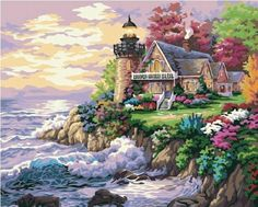 """16X20/""""  Paint By Number Kit DIY Digital Mermaid Painting Canvas Home Decor 2000"""