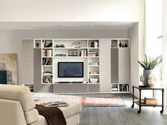 Furniture:Modern Contemporary High Quality Wall Mounted Shelves Units Decor Decoration Decorating With White Colors Laminate Wooden High Gloss Finish Themes Concept Storage Cabinet Designs Scheme Furniture Furnishing Organization Project Plans Inspiration Ideas Living Room Design Idea Ancient Man Statue Spotless Wall Excellent Books Enjoyable Sofa Indoor Plant Square Rolling Table Glorious Magazines F Best Modern Living Room High Quality Wall Shelves Units With Storage Cabinet Furniture ...