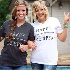 Happy camper tees