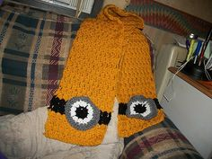 Minion Scarf by HeavensRays on Etsy
