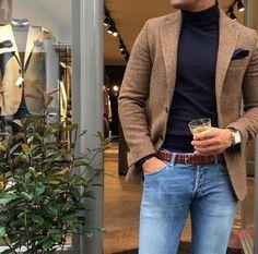 Men sport coat with jeans (179)