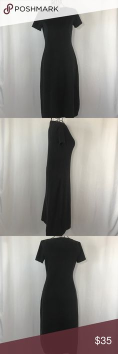 Brooks Brothers Midi Length Black Dress Simple and elegant midi length black dress by Brooks Brothers. EUC, size XS. Measurements are as follows; bust, 16 waist, 14, hips, 19 and its 42 inches long. Brooks Brothers Dresses Midi