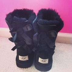 "Uggs. Love the ""tween"" Bailey bow!:) this is the new pair I'm getting this year !"