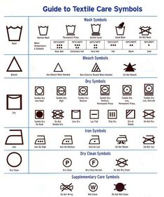 NO STAINS: Textile symbols of washing