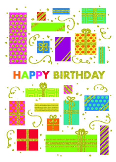 Preview Image For Product Titled Glitter Birthday Packages Corporate Holiday Cards