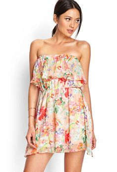 Perfect Peony Ruffled Dress | FOREVER21 #SummerForever #Floral