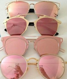 pink sunnies [rayban] [dior] absolutely l❤ve sunglasses Ray Ban Sunglasses, Round Sunglasses, Mirrored Sunglasses, Pink Sunglasses, Sunglasses Outlet, Summer Sunglasses, Sunglasses Online, Sports Sunglasses, Luxury Sunglasses