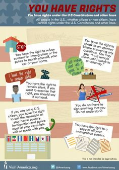 A series of infographics/resources from iAmerica detailing immigrant rights.  Materials available in available in spanish, polish, korean, tagalog, simpified chinese, khmer, hindi and haitian creole.