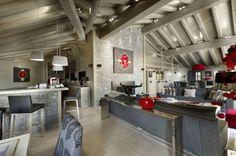 Chalet in the French Alps. Chalet in the French Alps photos. Chalet Design, House Design, Best Laminate, Grey Laminate, Interior Architecture, Interior Design, French Alps, Ski Chalet, Spacious Living Room