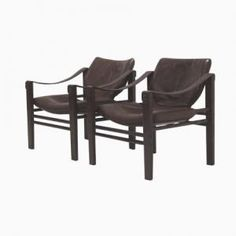 Safari Lounge Chairs by Maurice Burke for Arkana, 1960s, Set of 2
