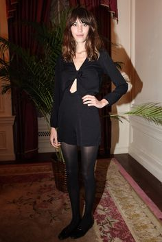 chung-alexa:    Alexa Chung, wearing all black at the Opening Ceremony x Derek Blasberg tea party at the St. Regis Hotel last night