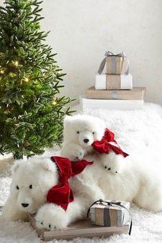 061ad086d44 Diamond Bear Hugs Stuffed Polar Bear