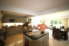 l shaped open plan living - Google Search