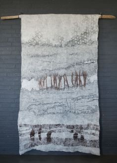 Wynske - felted wallhanging