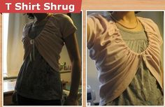T-shirt shrug  Another way to recycle old t-shirts