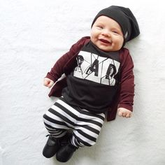 Reversible Bamboo Beanie, Baby Hat, Hipster Baby Clothes, Trendy Baby Clothes, Streetwear, Kids Fashion