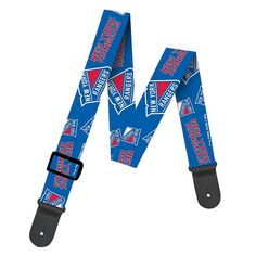 Woodrow New York Rangers Guitar Strap, Multicolor