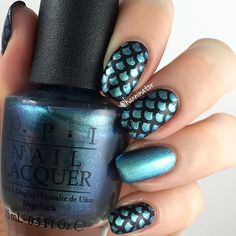 Dreaming of warm and sunny days...and loving @hanninator_  ocean nails! - Scale Nail Stencils snailvinyls.com