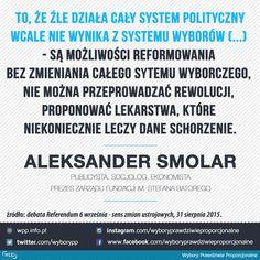 Aleksander Smolar - wypowiedź podczas debaty Referendum 6 września - sens zmian ustrojowych.