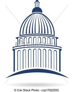 Capitol cupula Logo - csp17822553