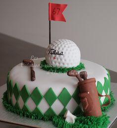 Birthday Cake Photos - Golf cake