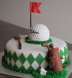 Birthday Cake Photos - Golf cake