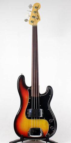 Fender 1970's Fretless Precision Bass Guitar