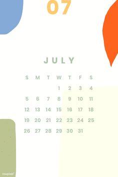 July 2020 Calendar Simple Calendar For Iphone Wallpaper Kids Calendar, Calendar 2020, Calendar Design, Calendar Ideas, September Calendar, Printable Calendar Template, Free Printable, Calendar Wallpaper, Planner Pages