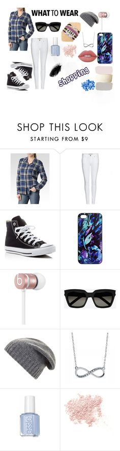 """""""Going shopping"""" by vulpixtail on Polyvore featuring Paige Denim, Burberry, Converse, Samantha Warren London, Beats by Dr. Dre, Yves Saint Laurent, BCBGMAXAZRIA, Bare Escentuals and Lime Crime"""