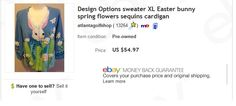 Design Options sweater $2 at thrift store, sold for $54.97. Learn to sell pre-owned clothing on eBay