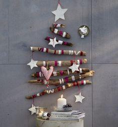 DIY unusual christmas tree, purple
