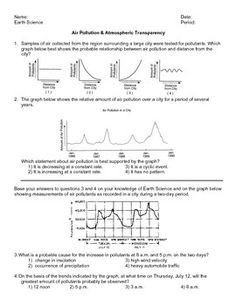 Printables Earth Science Review Worksheets science worksheets and earth on pinterest this worksheet has 17 regents questions about air pollution atmospheric transparency there