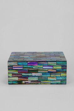 Mosaic Jewelry Box - DIY with abalone